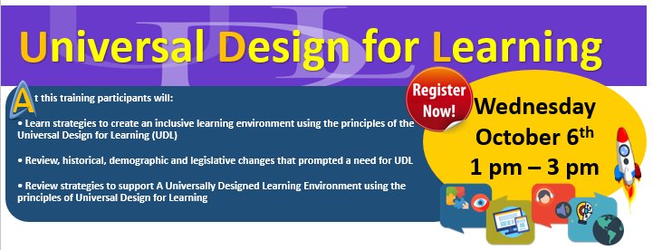 Inclusive ECE UDL Training Flyer