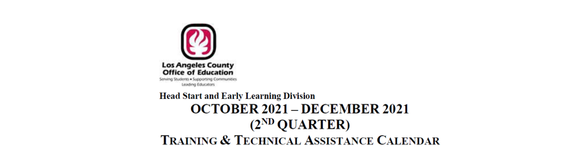 LACOE HSEL Oct to Dec 2021 Training Calendar
